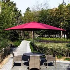 Solar Patio Umbrella Rectangular Umbrella With Solar Lighted