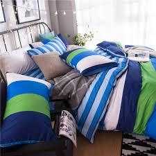 blue twin bedding green white blue striped bedding set cotton 100 bright color