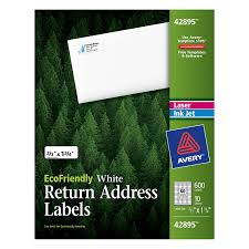 Fedex Label Template Word Amazon Com Avery Return Address Labels White 0 66 X 1 75