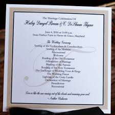 traditional wedding programs traditional wedding program archives citrine designs