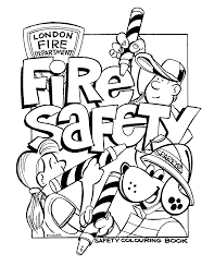 fire prevention coloring page free download