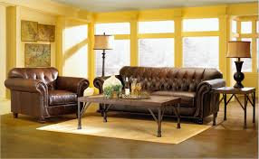 Tufted Brown Leather Sofa Brown Leather Tufted Sofa Combined With Rectangle Brown