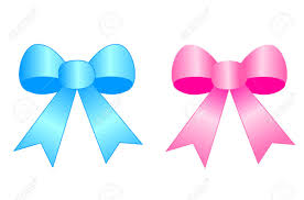 satin ribbon bows blue and pink satin ribbon bows isolated on white background