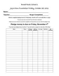 Pledge Sheets For Fundraising Template by Walk A Thon Pledge Forms Council