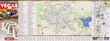 Las Vegas Strip Map by Las Vegas Map By Vandam Las Vegas Streetsmart Map City Street