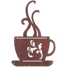 Red Metal Coffee Cup Wall Decor Hobby Lobby