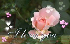 i love you with romantic music and beautiful flowers youtube