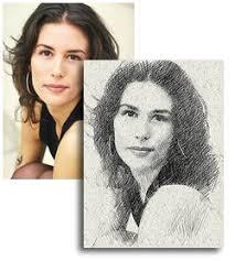 pencil photo editor photoshop converts a photo to a pencil sketch