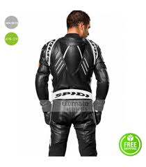 leather racing jacket spidi track wind pro motorcycle race costume jacket