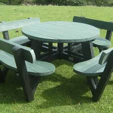 recycled plastic picnic tables recycled plastic family table second life recycled products