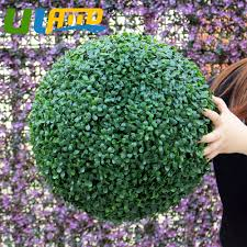 online get cheap artificial boxwood topiaries aliexpress com