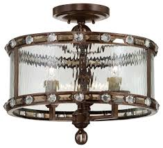 Bronze Semi Flush Ceiling Light by Savoy House Paragon Flush Mount Ceiling Fixture Gilded Bronze