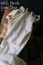 diy how to hem no sew and add stripes to curtains using paint