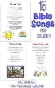 15 bible songs teach free printable free