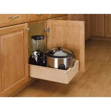 kitchen pull out cabinet rev a shelf 5 62 in h x 14 in w x 22 5 in d medium wood base