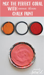 Best Coral Paint Color For Bedroom - 85 best chalk paint color mixes images on pinterest chalk paint