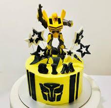 transformer birthday cakes transformers bumble bee buttercream cake white spatula