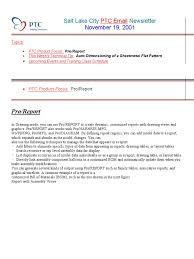 pro e detailing report parameters menu computing file format