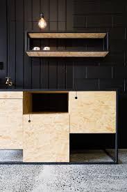 kitchen chipboard black wood brass copper fittings de