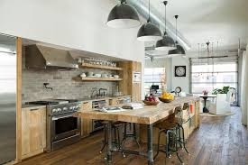 cuisine style industrial meets rustic in this kitchen kitchen design beams