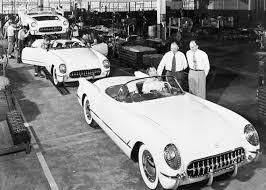 are all corvettes made of fiberglass june 30 1953 corvette adds some fiber flair to road