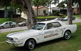 mustang of indianapolis file 1964 ford mustang pace car fvl jpg wikimedia commons