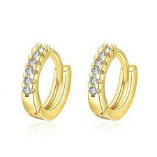 malabar earrings china factory wholesale zircon diamond self piercing hoop earrings