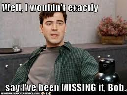Exactly Meme - well i wouldn t exactly say i ve been missing it bob