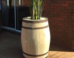 wine barrel planter etsy