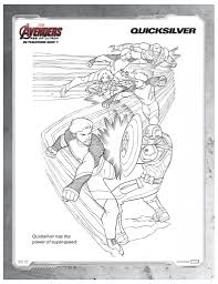 marvels avengers quicksilver printable coloring page printable