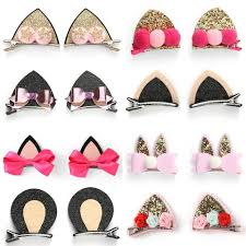 baby barrettes baby cat ear hair bows barrettes for kids toddlers