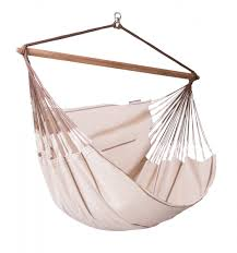 Brazilian Hammock Chair Habana Nougat Organic Cotton Lounger Hammock Chair