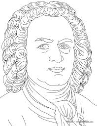 johan sebastian bach famous german composer coloring pages