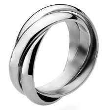 russian wedding band steel russian wedding ring 4mm bands