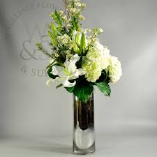 Bulk Cylinder Vases Mirrored Glass Cylinder Vase 20x6 Wholesale Flowers And Supplies