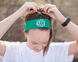 monogram headband monogram headband etsy