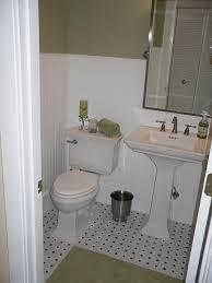 minimalist bathroom design with white sleek bathroom wainscoting
