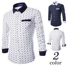 wholesale 2016 long sleeve fashion printed flower men dress shirt