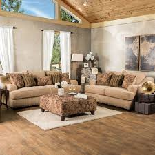Brown Fabric Sofa Set Furniture Of America Wallys Traditional Brown Striped 2 Piece Sofa Set