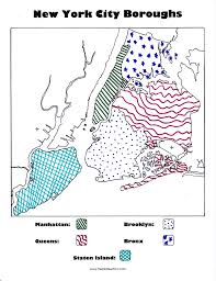 New York Borough Map by New York City Boroughs Coloring Activity For Kids