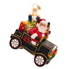 christopher radko ornaments 2014 radko santa roadster ornament