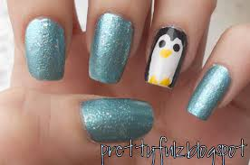 prettyfulz winter nail art design penguin nail art design