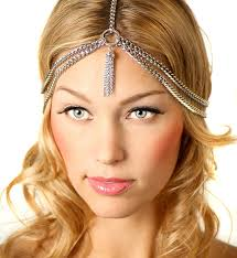 chain headband items similar to silver tassle chain headband on etsy