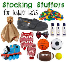 stuffers for toddler boys to give