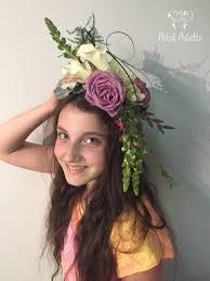 flower headpiece korea florist petal palette seoul florist