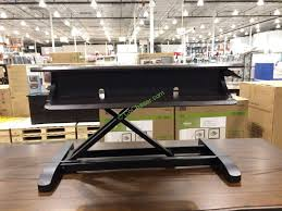 tresanti sit to stand power height adjustable tech desk turnkey powered sit and stand desk in costco plans 4 damescaucus com