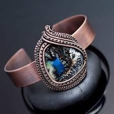 wrap cuff bracelet images Wire wrap bangles and bracelets nicole hanna jewelry jpg