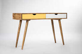 bureau bois scandinavian desk mango