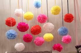Extreme 20 Balão Pompom Bola Flores Papel Seda Festas Decoração - R$ 70,00  &QO94