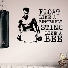 Skateboarding Wall Stickers Pro Design Muhammad Ali Motivational Wall Decals Gym Home Boxing